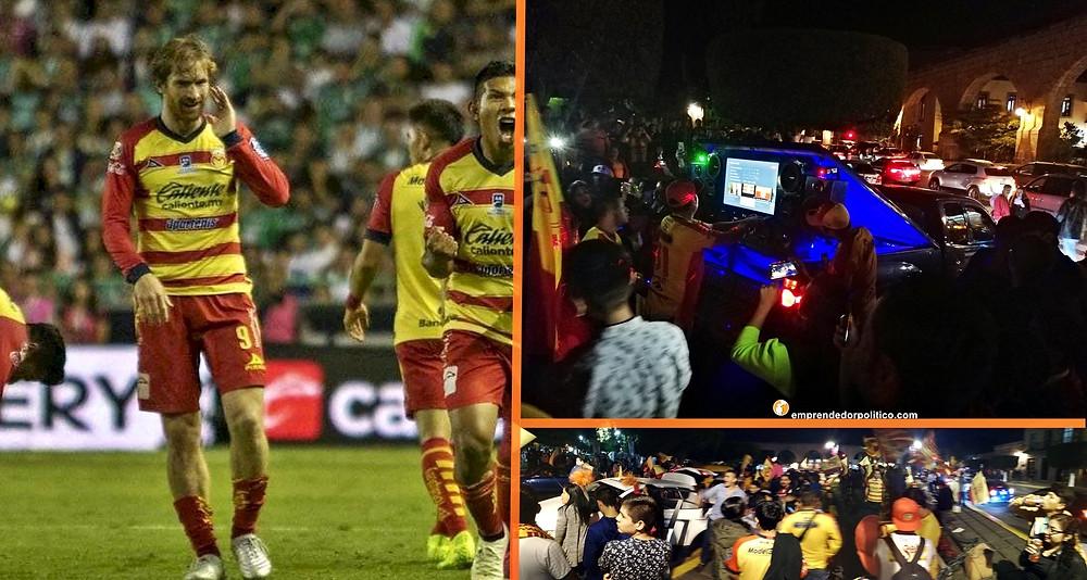 Así festejaron en las Tarascas los aficionados del Monarcas por su pase a semifinales (+fotos+video)