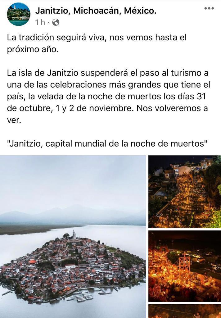 Janitzio cerrará sus fronteras durante noche de muertos