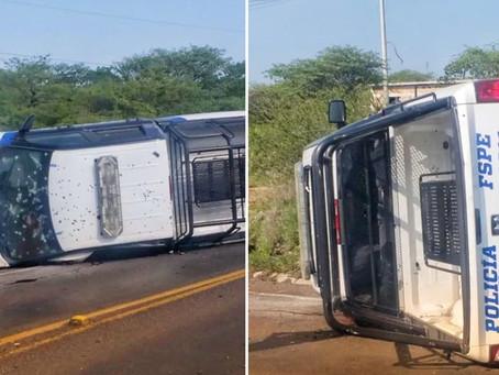 Imágenes del ataque que dejó cinco policías muertos en emboscada en Guanajuato