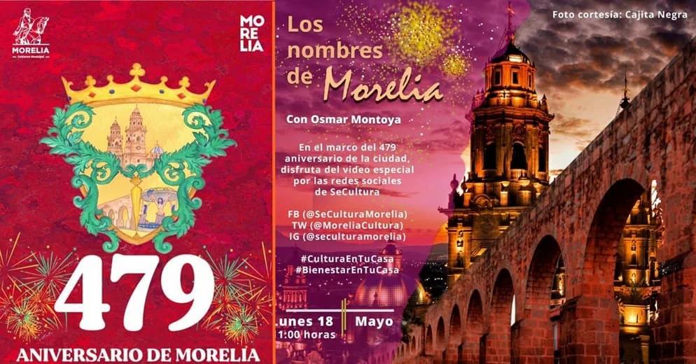 Festeja desde casa el aniversario 479 de Morelia; Checa aquí la cartelera y donde puedes verlo