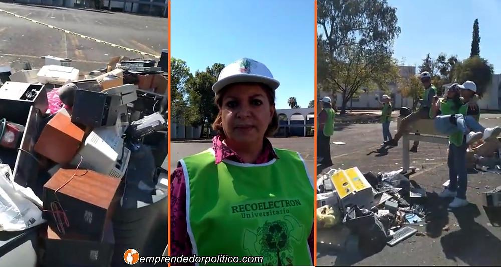 Nicolaitas ponen el ejemplo para cuidar el medio ambiente con el Recoelectron Universitario 2019