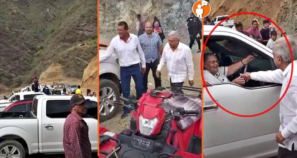 """AMLO saluda a madre de """"El Chapo"""" en Badiraguato: """"Ya recibí tu carta"""" (+Video)"""