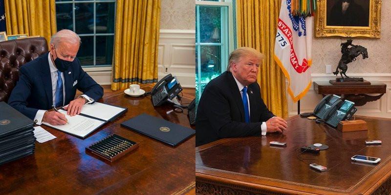 Biden retira de Oficina Oval botón rojo de la 'Coca-Cola' de Trump