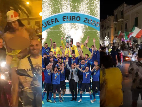 Así celebraron el título de Italia en la Euro; desnudos, explosiones y accidentes (+Videos)