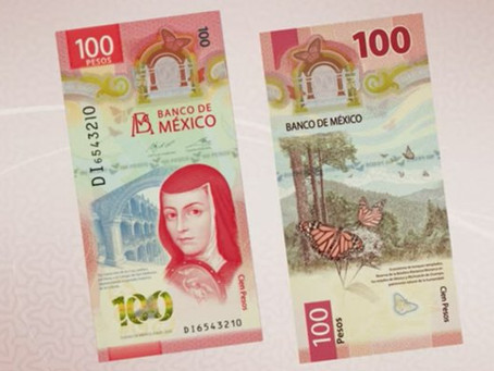 Sor Juana reaparece en nuevo billete de 100; Banxico desaparece a Nezahualcóyotl