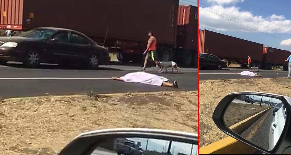 #Morelia: Motociclista fallece al derrapar su unidad, una acompañante está herida (+Video)
