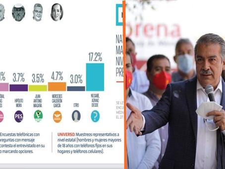Pese a decisiones del INE, Morón incrementa en preferencias electorales: Heraldo
