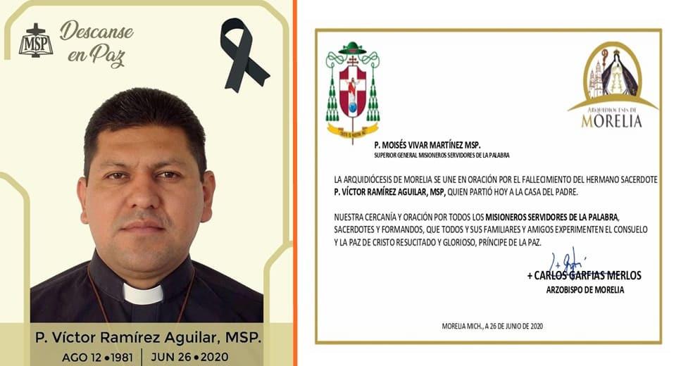 Fallece segundo sacerdote de Morelia por COVID-19