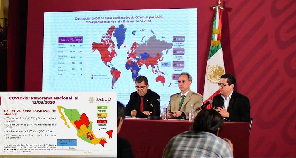Gobierno informó ayer en la noche que cifra de contagiados por coronavirus en México llega a 26