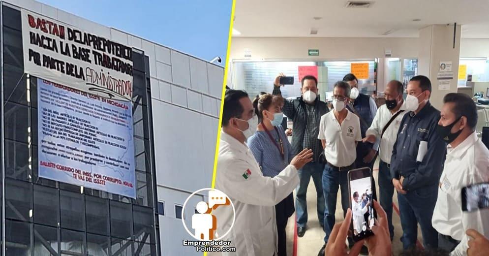 Trabajadores del ISSSTE Charo denuncian irregularidades y desvío de recursos en el Hospital Regional
