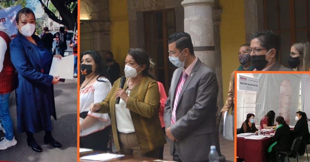 Con la mayor aceptación social María Chávez se registra como candidata a la gubernatura de Michoacán
