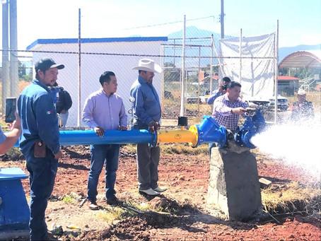 Inaugura Feliciano Flores pozo de agua potable en Zináparo