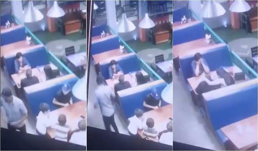VIDEO: Matan a un hombre frente a mujeres y niños en un restaurante de Sonora
