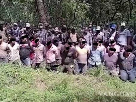 México: Grupo de civiles armados graba y difunde la ejecución de 20 supuestos criminales