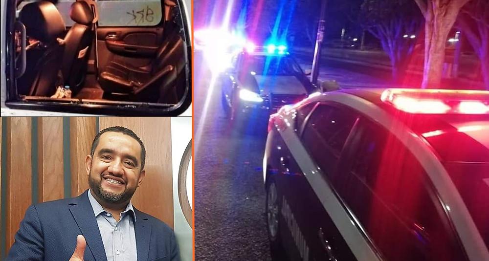 Cristalean Suburban del alcalde de los Reyes y le roban 3 armas largas a sus escoltas, en #Morelia