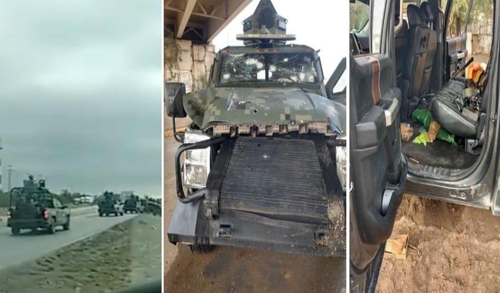 Difunden videos de enfrentamiento entre sicarios y militares en Nuevo Laredo
