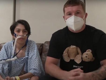 El 'Canelo' lo vuelve hacer; ayuda a joven que necesita trasplante de pulmón