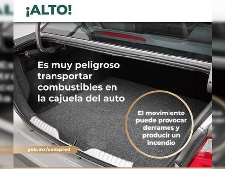 Advierte Segob riesgos por manejo inadecuado de combustibles