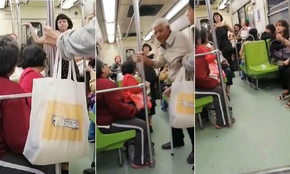 Mujeres 'pelean' en el Metro ¡OTRA VEZ! por presencia de abuelito en vagón exclusivo (+Video)