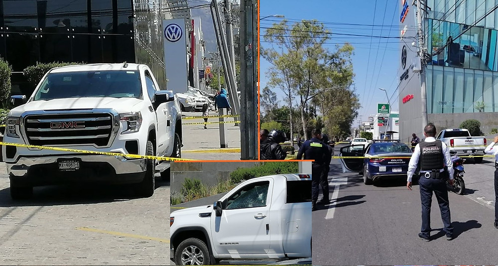 #Morelia: Sujetos en motocicleta atacan a balazos a conductor en crucero Mil Cumbres (+Fotos)