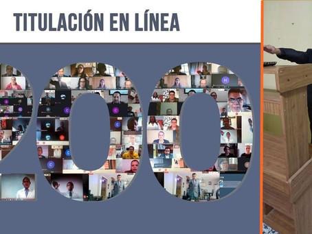 #UMSNH registra la titulación en línea número 200