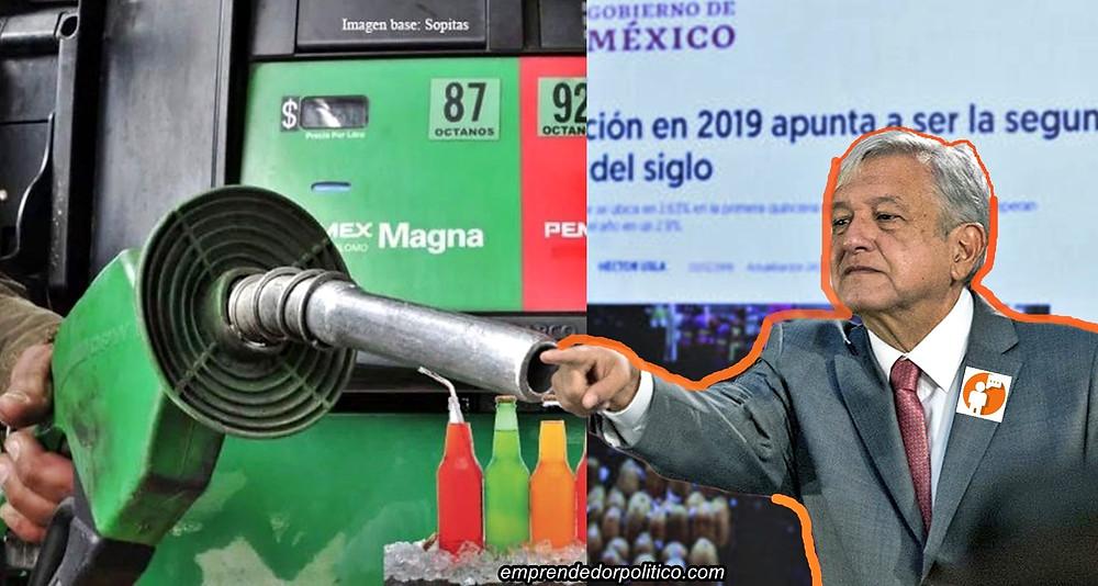 Advierten gasolinazo para 2020, alza en cigarros y refrescos, pero #Amlo desmiente que así sea