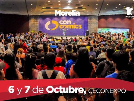 ConComics Morelia 2018 en el Salón Michoacán de CECONEXPO Morelia. 6 y 7 de Octubre de 2018.