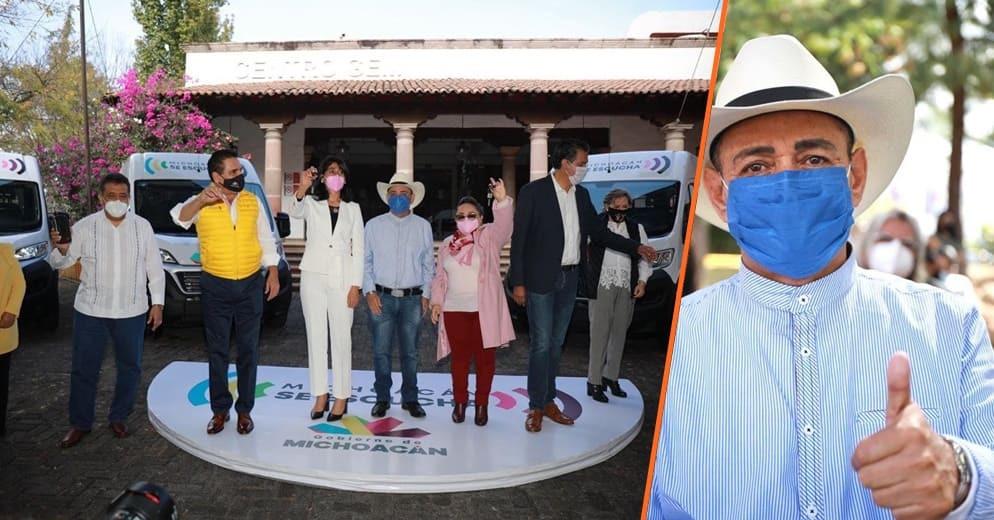 Gobierno y Congreso de Michoacán entregan vehículos para traslado de personas con discapacidad