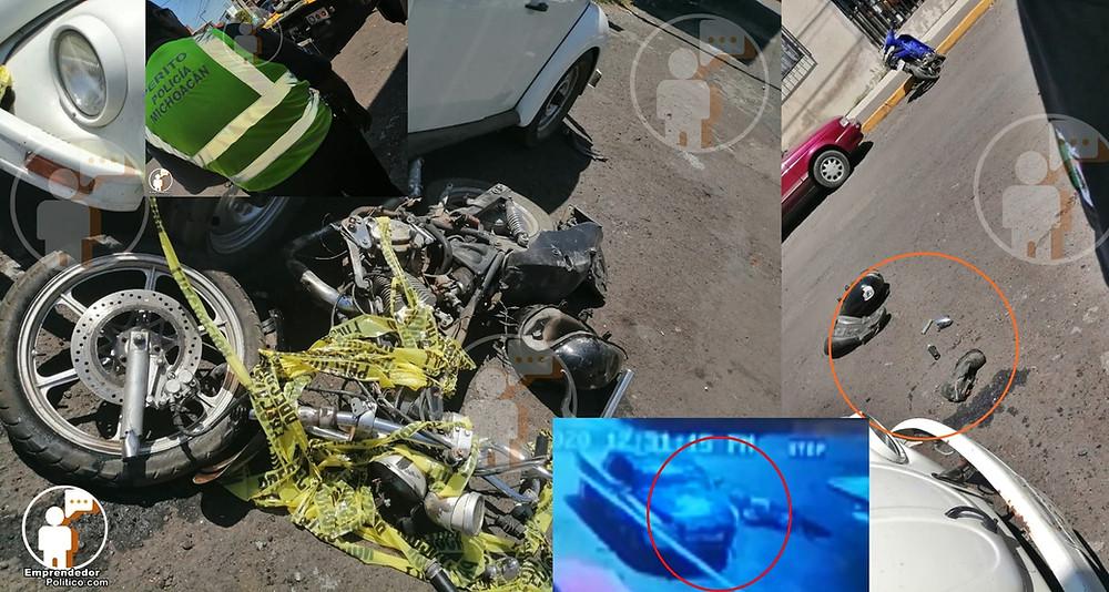 #Denuncia: Patrulla atropella a motociclista en Morelia y huye de la escena (+Fotos+Video)