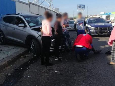 Choque de esta mañana en Morelia, entre Suv y combi, deja 5 heridos (+Fotos)