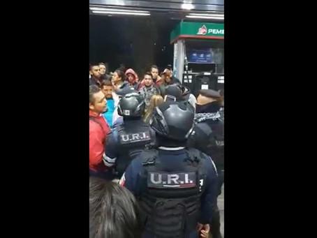 VIDEO: El pleito en una gasolinera que se salió de control