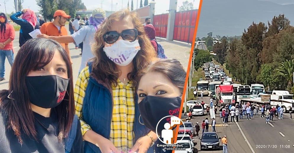 LA CNTE  BLOQUEA NUEVE ACCESOS CARRETEROS COMO PROTESTA Y PRESIÓN EN MICHOACÁN