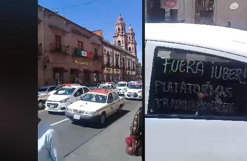 La protesta de taxistas abre un debate y las redes arden