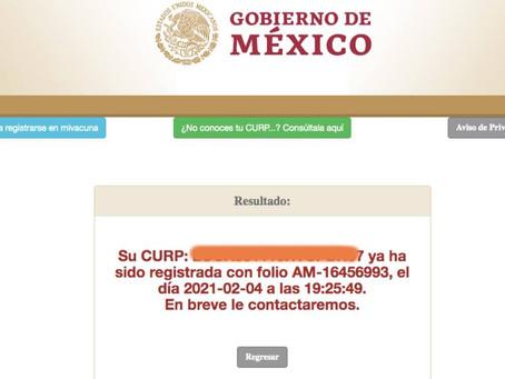 Registran a AMLO en portal para que adultos mayores reciban vacuna contra Covid-19