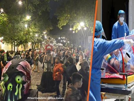 Incrementa ocupación COVID-19 en Hospital Civil tras aglomeraciones por noche de muertos