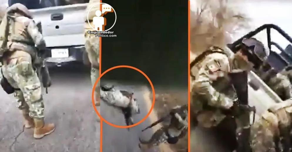 Así fue parte de la emboscada que sufrieron soldados en Chinicuila, Michoacan (+Video)