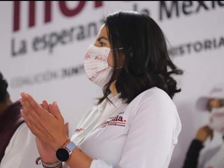 Bedolla demuestra capacidad y amor por Michoacán: Giulianna Bugarini