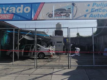 Con disparos de arma de fuego, ejecutan a hombre al interior de un autolavado en Morelia