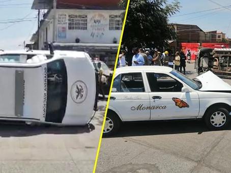 Tres guardias nacionales y 2 civiles heridos en choque de taxi y patrulla
