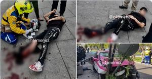 Joven asalta a taxista de CDMX y termina fracturado tras chocar