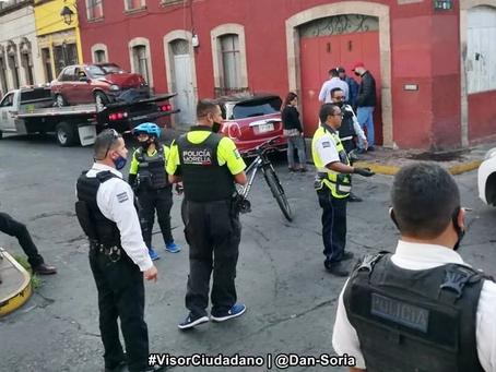 #Morelia: Por no respetar el uno a uno, chocan en calles del Centro (+Video)