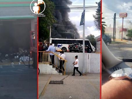 Quema de vehículos y disparos; esta fue la violencia que se desató en Celaya (+Videos)