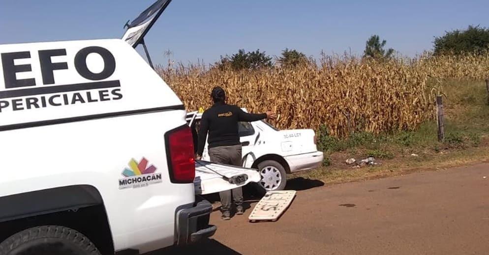 Taxista y pasajero son agredidos a tiros en Tangamandapio; el conductor pierde la vida