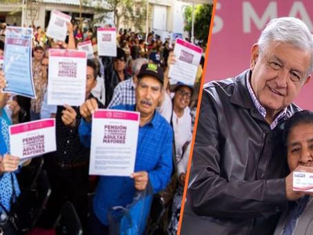 AMLO anuncia aumento gradual y al doble de pensión a adultos mayores