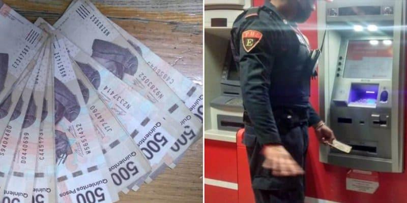 Policía de CDMX devuelve billetes que encontró en cajero automático