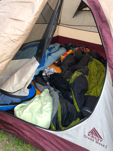 Cozy tent!