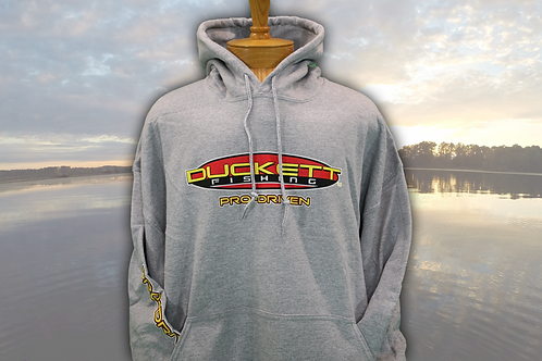 DUCKETT FISHING GREY HOODIE