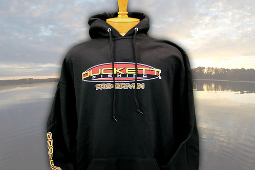 DUCKETT FISHING BLACK HOODIE