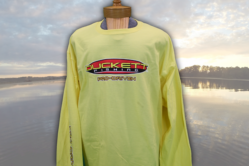 DUCKETT FISHING YELLOW LONG SLEEVE T-SHIRT