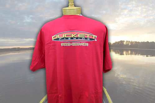 DUCKETT FISHING RED SHORT SLEEVE T-SHIRT